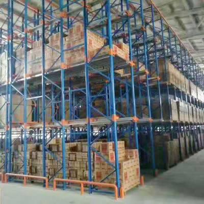 重庆高位重型固联货架,型号1.8X0.7X3.5m三梁四货,仓储仓库车间货架生产厂家