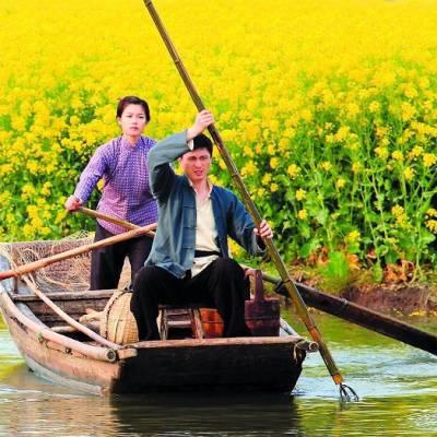 福建泉州小区打捞船 木质小区打捞船 小区打捞船图片