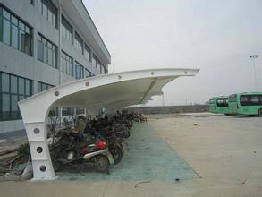 膜结构电动车车棚厂-膜结构-创锦帆装饰膜结构