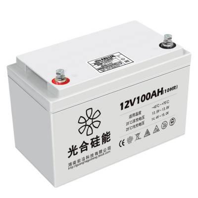 光合硅能12V100AH 胶体铅酸免维护 UPS电源 机房后备电源 太阳能储能电池