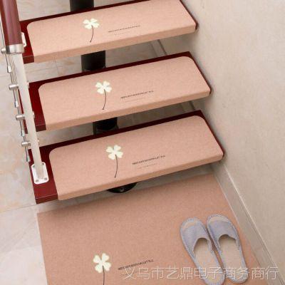 家用免胶自粘楼梯垫地毯夜光实木防滑地垫荧光脚垫踏步垫