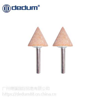 台湾德盾黄刚玉砂轮磨头打磨头金属磨具抛光三角形WA磨头柄3/6mm