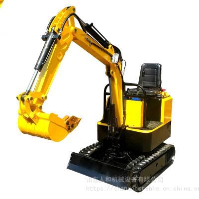 自重一吨履带式挖掘机 开沟挖渠农业园林小沟机 迷你多功能挖土机