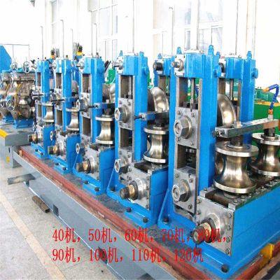 广东二手焊管机组 不锈钢制铁艺设备异型管罗马管椎管机制管机
