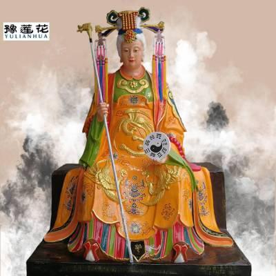 黎山老母神像彩绘观音文殊普贤菩萨神像河南南阳佛像厂家