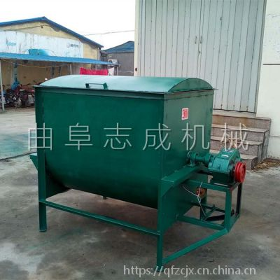 志成生产定做大型拌草机 自动上料粉碎搅拌机 猪牛羊卧式拌草机