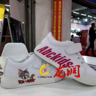 成品鞋子高喷射uv平板打印机凹凸鞋面3D印花设备
