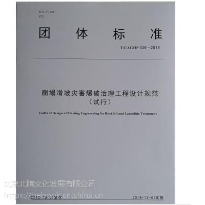 新书-22项《崩塌防治工程设计规范》T/CAGHP 032-053—2018 全套22册