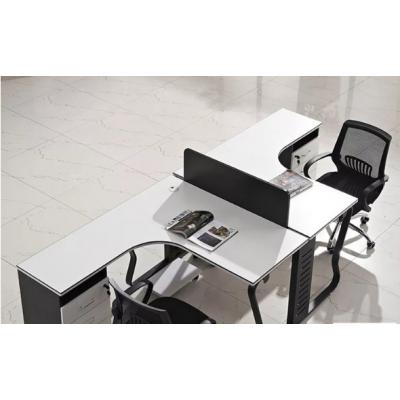 电脑桌组合办公家具现代简约职员办公桌双人/四人位L型转角办公桌