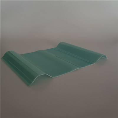 安徽省阜阳市双层470型波浪型抗紫外线1.2mm厚玻璃钢透明采光 FRP海蓝采光板报价单