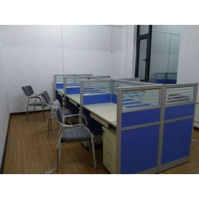 职员办公桌 简约现代4人位洛阳办公家具工作位员工桌屏风办公桌椅厂家订制