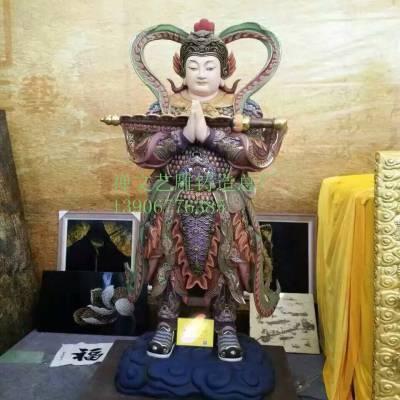 韦陀伽蓝菩萨珈蓝关公神像佛像制造厂韦驮护法天尊降魔消灾树脂佛像供奉摆件