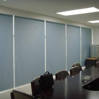 顺义定做办公卷帘会议室电动窗帘-新国展办公楼大厦防紫外线窗帘