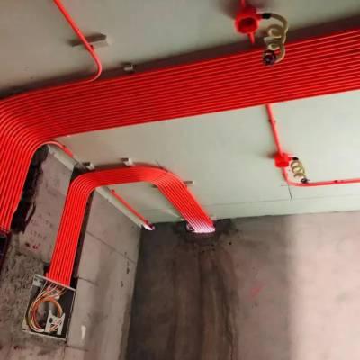 碧桂园望江府大平层装修在建工地,望江府洋房E区水电施工现场