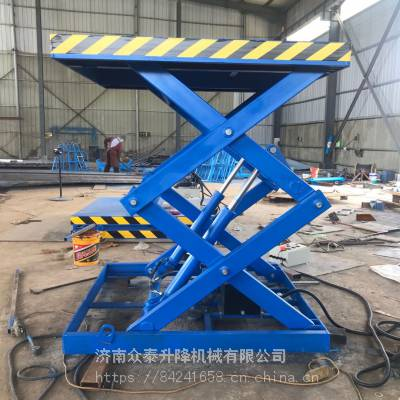青海厂家直销防护栏式升降稳固液压升降机 按需定制剪叉式货物举升机 2020全新价格表