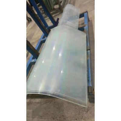 郑州誉华专业定做双层弯钢弯弧夹胶弧形夹丝玻璃