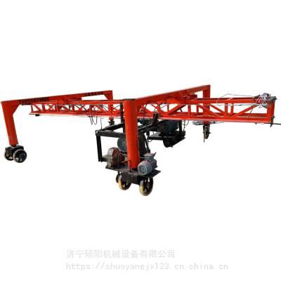 悬挂式桁架刻纹机 快速防滑线刻纹机 大型路面悬挂刻纹机