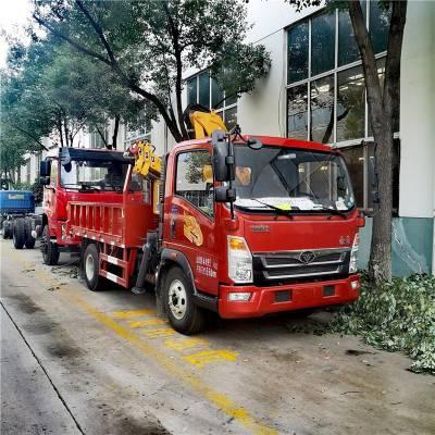 重汽豪曼小黄牌五吨随车吊 可装五吨以内吊机