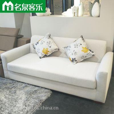 大连软包家具sf-zf111-16客厅布艺简约双人沙发大连家具工厂直销