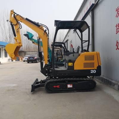厂家直销小型挖掘机 农用园林挖土机 全新履带液压散热小型挖掘机