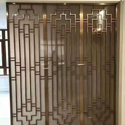 无锡室内定做安装纯铜浮雕屏风 客厅铜隔断摆设