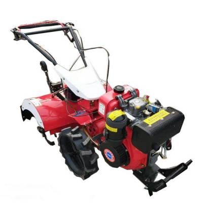 柴油四驱旋耕松土机 山区丘陵小型犁地机 手把可旋转犁地机