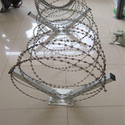 银行围墙防爬网 圆圈钢丝网 带刀片镀锌防腐