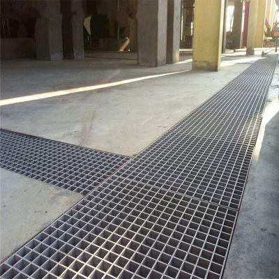 热镀锌扁钢钢格板电站化工业钢格板厂家-河北优盾格栅板