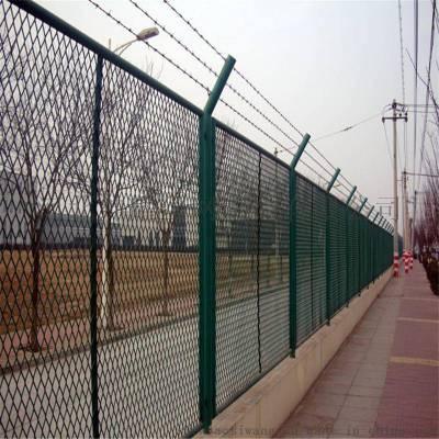 护栏网定制鱼塘河道隔离围栏铁丝网小区庭院三角折弯护栏网
