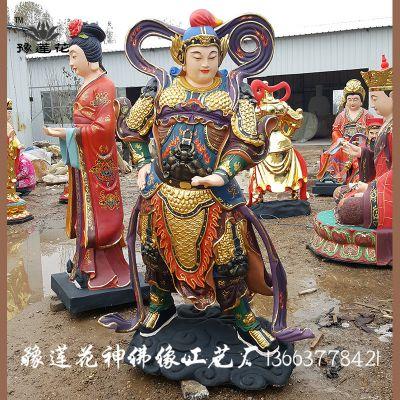 玻璃钢彩绘 韦陀菩萨像 站韦陀 河南佛像厂家 伽蓝菩萨佛像 批发寺庙护法