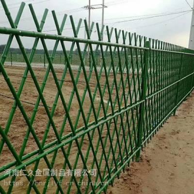 河南别墅护栏 园林庭院护栏 pvc塑料护栏 草坪围栏厂家