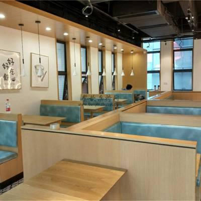 雅安西餐厅家具定做,西餐厅卡座沙发桌子组合案例