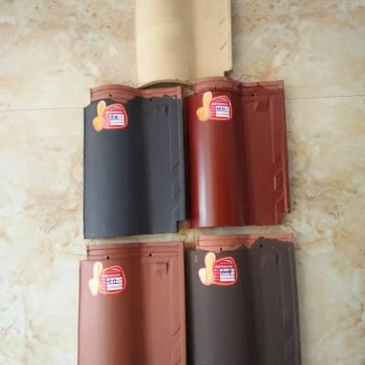 3040陶瓷屋面彩瓦松竹全直角瓦连锁瓦品种齐全、支持定做