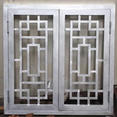 古庙仿古铝窗花 中式铝合金窗花厂家