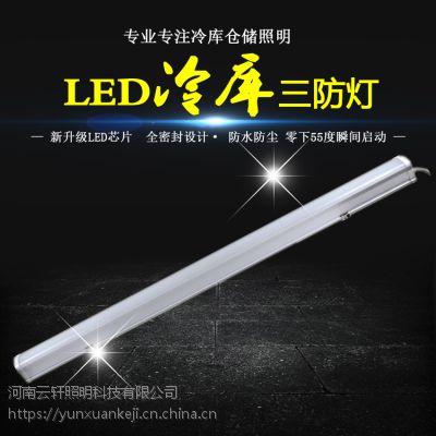 河南云轩LED冷库灯50W IP65防水防尘耐低温-40℃ 冷库食品车间厂房专用灯