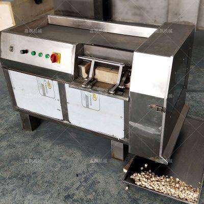 茯苓切丁机视频 冻肉切丝切丁机