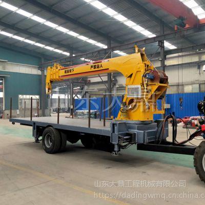专业生产拖拉机平板随车吊 平板拖车吊 农用拖拉机随车吊