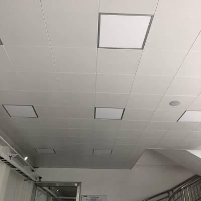 深圳厂房60X60吊顶铝扣板 白色平面铝合金扣板