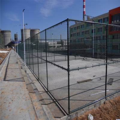 球场镀锌丝勾花网 网球场防护网 山东运动场围栏网