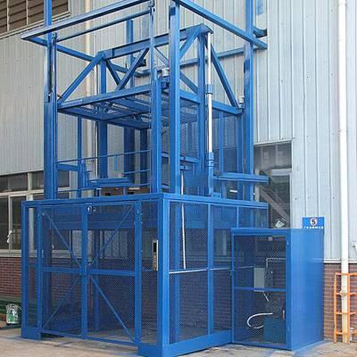 张家口市导轨升降货梯 定制仓库2层/3吨液压升降平台