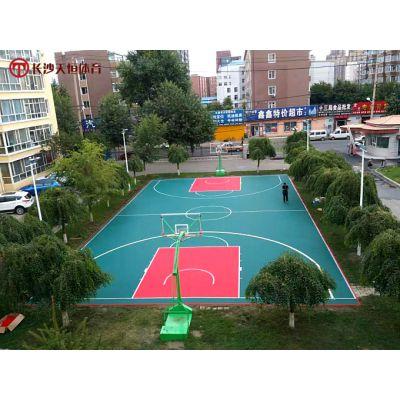 常德塑胶篮球场地面改造-汉寿学校塑胶运动场材料施工