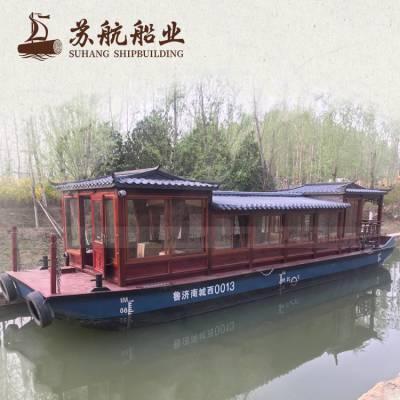 12米杉木观光餐饮画舫船