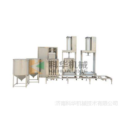 304不锈钢豆腐干机,手拉式豆干机时产300-400斤,自动豆腐干机生产视频,三练磨配套设备