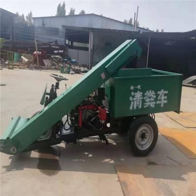 小型牛场清粪机 柴油三轮的清粪车 自卸式铲粪车