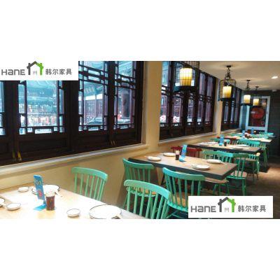 上海韩尔品牌 供应中餐厅实木桌椅订做主题餐厅餐桌椅上海西餐厅家具厂家