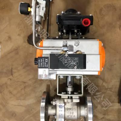 Q641F46-16C气动衬氟球阀 防腐不锈钢衬四氟阀门厂家直销