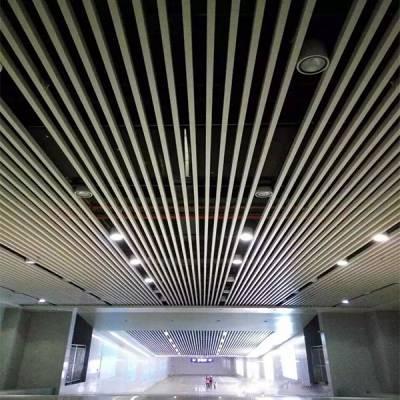 市场直销铝方通天花 |吊顶装修铝天花材料木纹铝方通