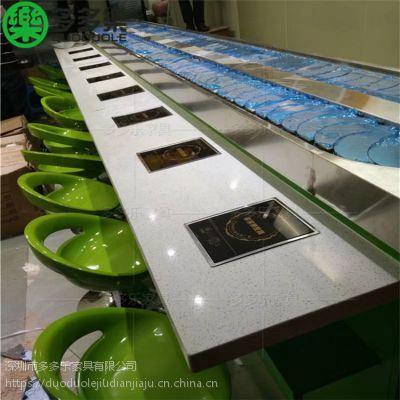 深圳旋转小火锅设备价格多多乐厂家订做回转设备吧台2019新款