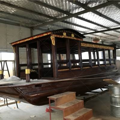 甘肃定西木船厂家定制4米南湖红船