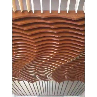 帝欣厂家木纹铝方管型材凹槽铝方通大规格氟碳漆户外室内屏风隔断吊顶